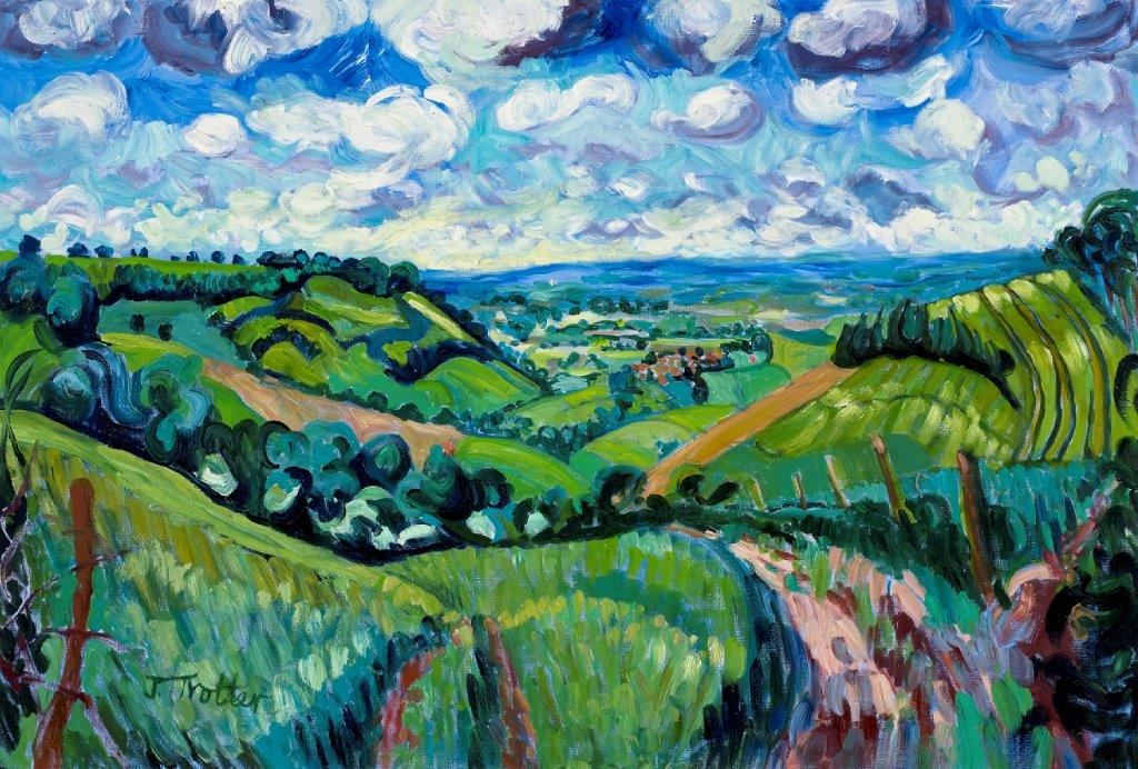 "Yorkshire Wolds, Oil on canvas 30"" x 44"""