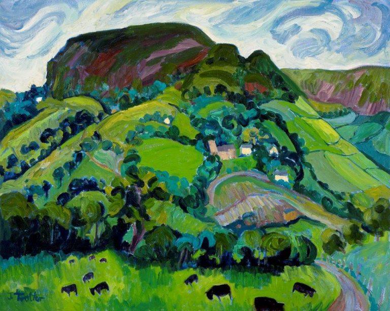 "St Martins Church, Cwmyoy, Oil on canvas 20"" x 24"""