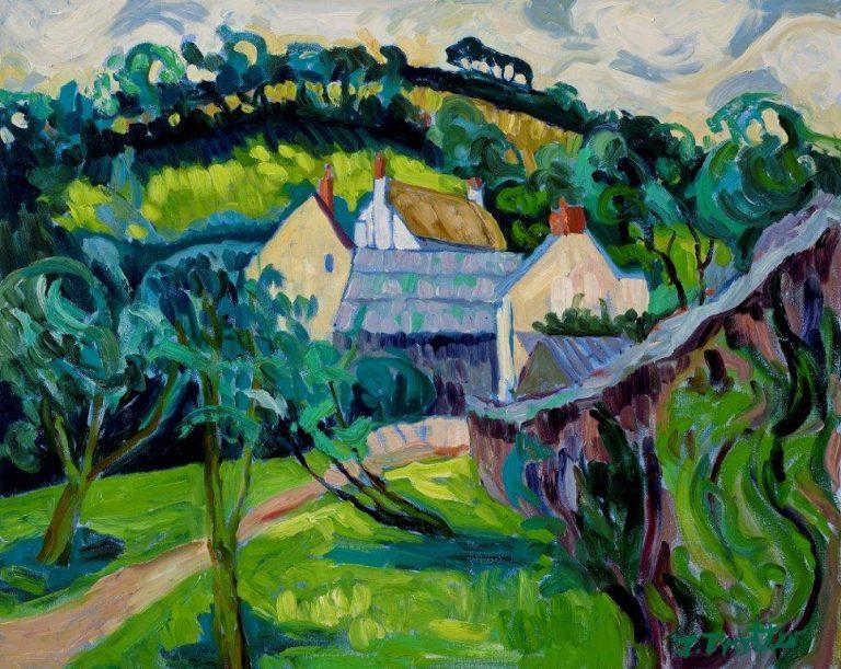 "Nethercot, Brampton, Devon, Oil on canvas 20"" x 24"""