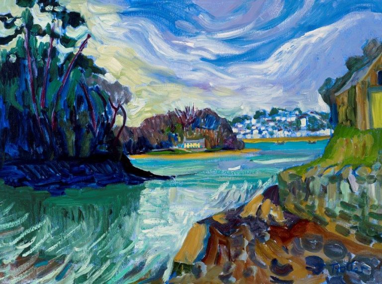 """St Mawes from Place Oil on canvas 24"""" x 32"""""""