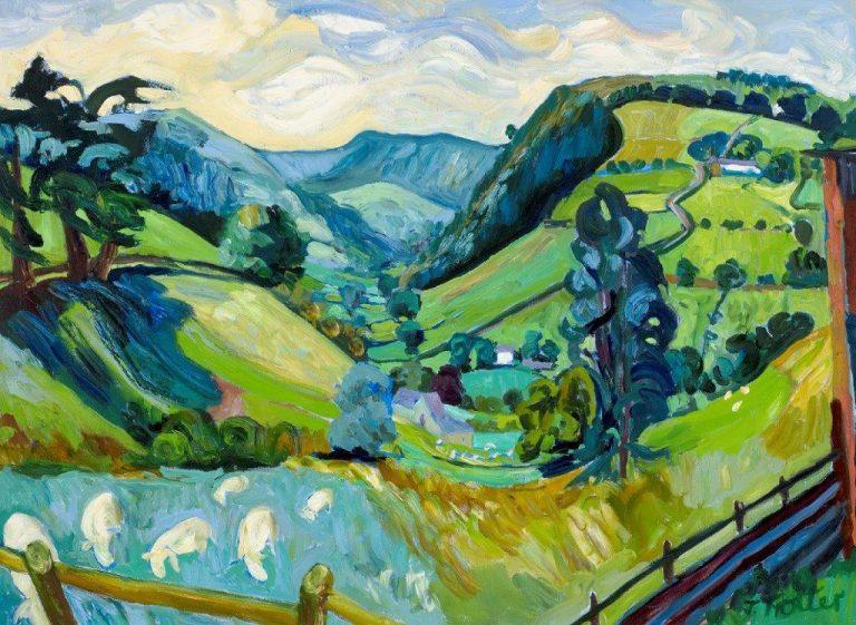"""Pen y Bryn, North Wales, Oil on canvas 30"""" x 40"""""""