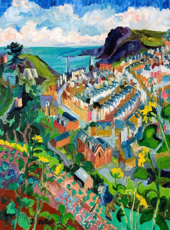 "Ilfracombe, Oil on canvas 32"" x 24"""