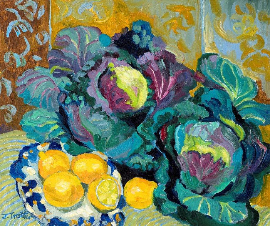 "Cabbages, Oil on canvas 20"" x 24"""