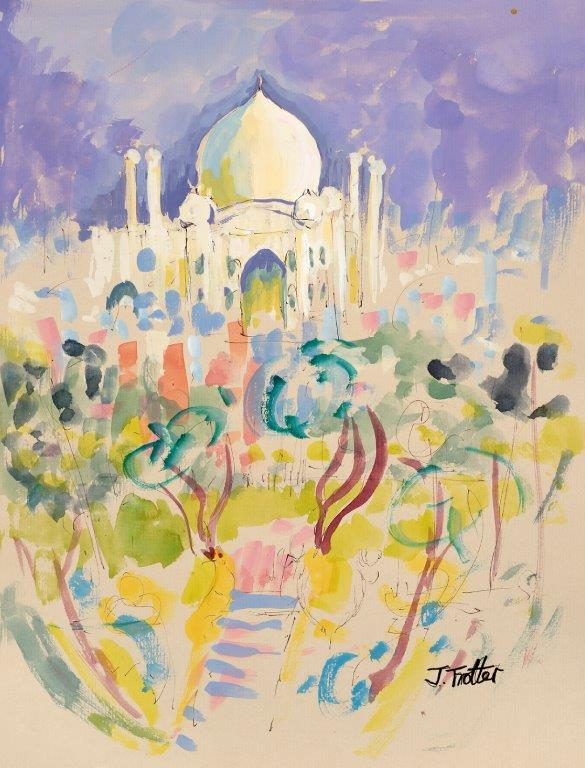 "Taj Mahal, India, Watercolour 16"" x 12"""