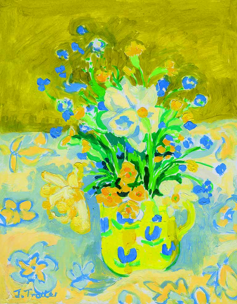32: Flowers in a yellow jug