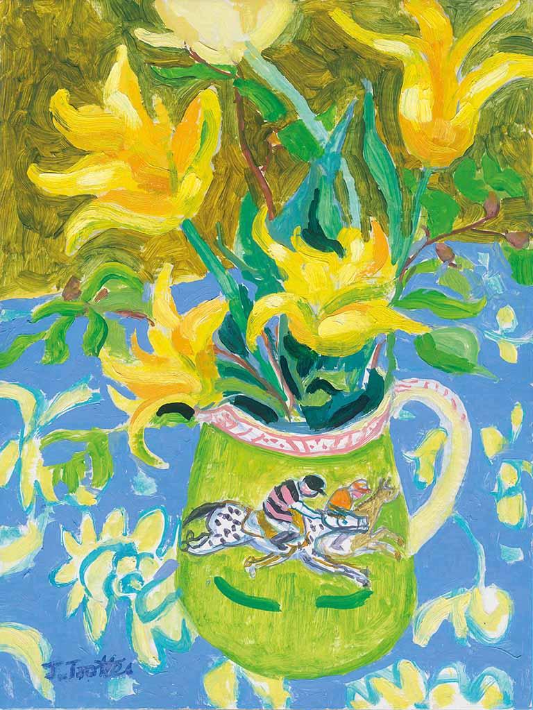 33: Tulips in a jug with jockey