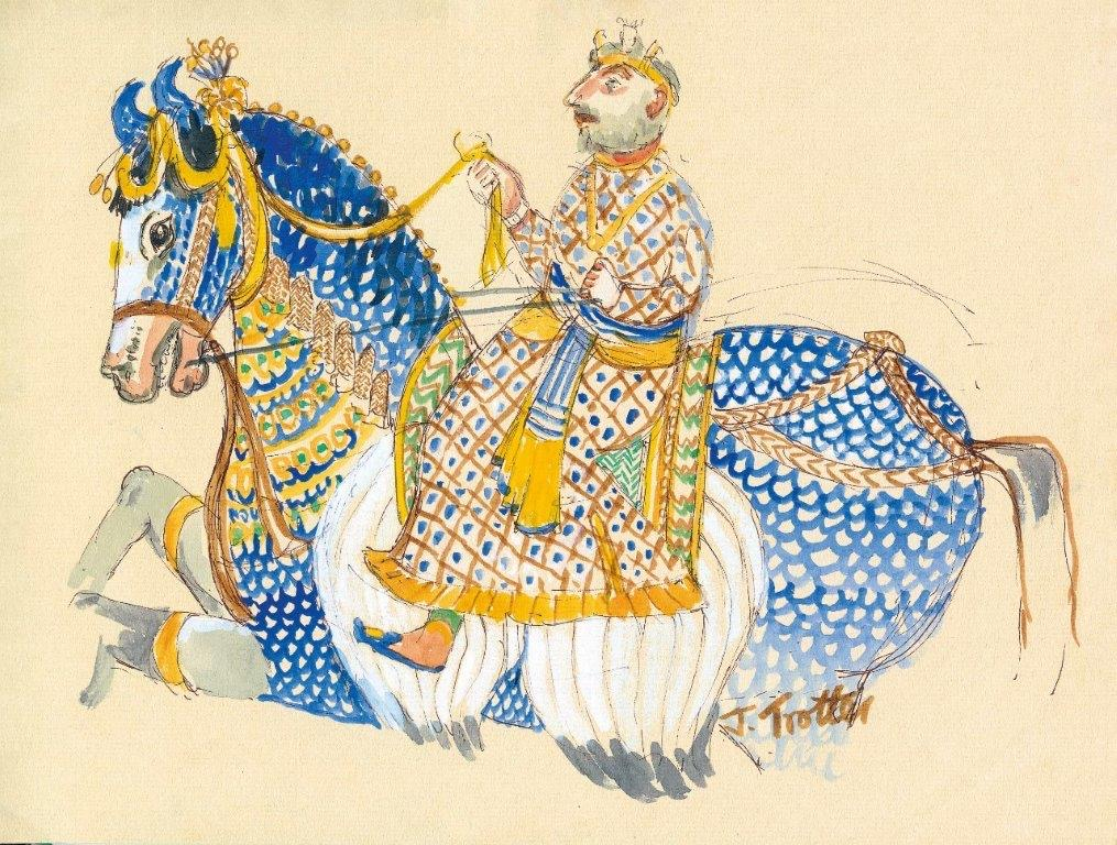 8: Medieval Mural of King and Charger, Raas Devigarh, Udaipur