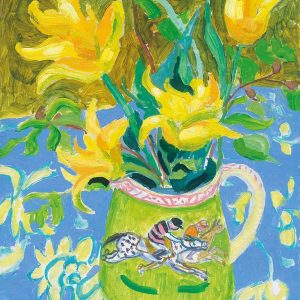 Josephine Trotter Tulips in a jug with jockey